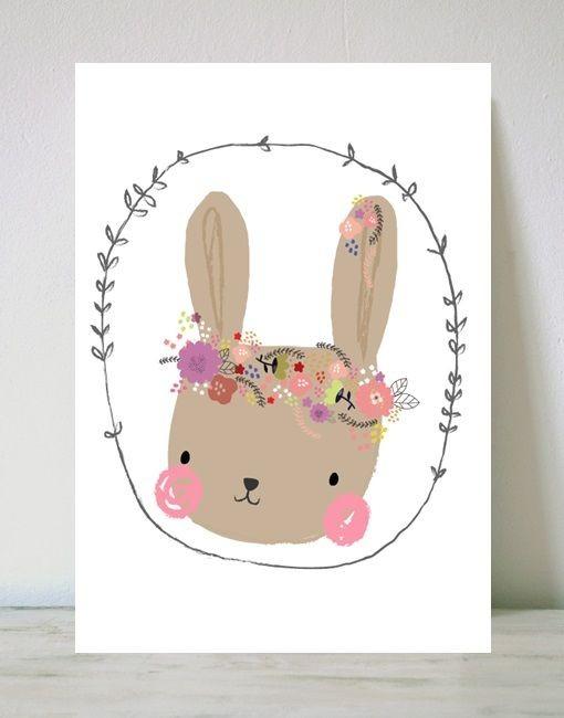 Lámina Flower Bunny