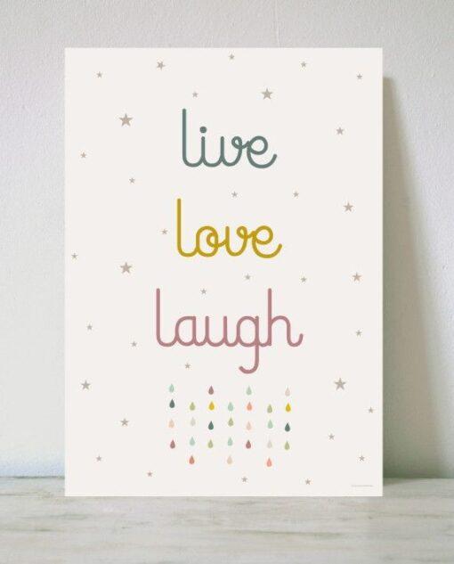 Lámina Love, Love and Laugh