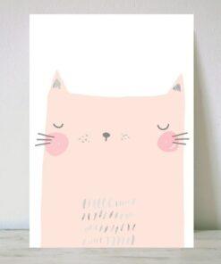 Lámina Pink Cat