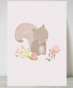Lámina oso invernal