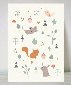 Lámina Animales en el Bosque