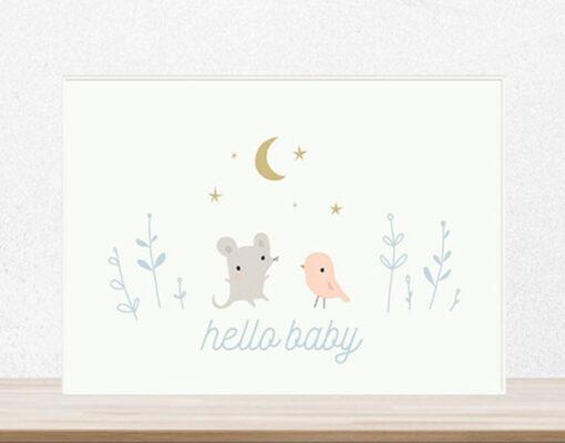 Lámina Hello Baby