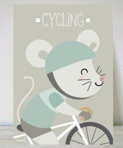 Lámina Ratón Ciclista