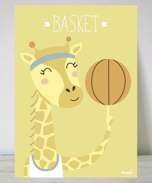 Lámina Jirafa Basket