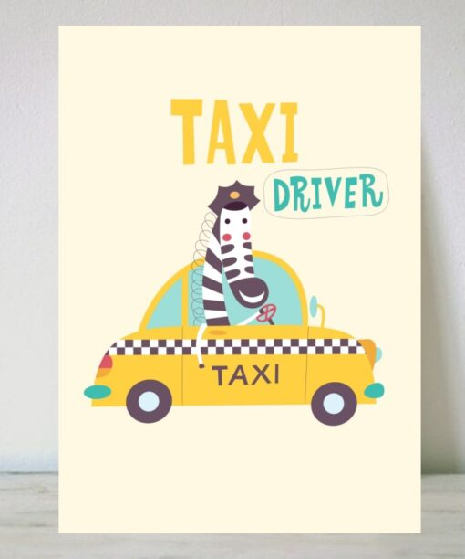 "Lámina Jirafa ""Taxi"""