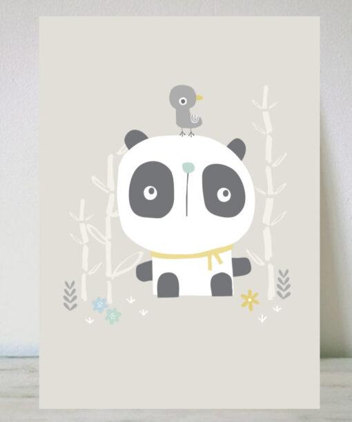 Lámina para niños oso panda