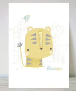 Lámina infantil de tigre