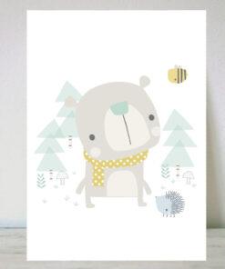 Lámina para niños oso