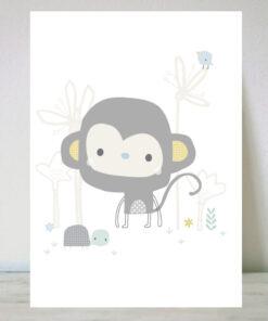 Lámina para niños mono