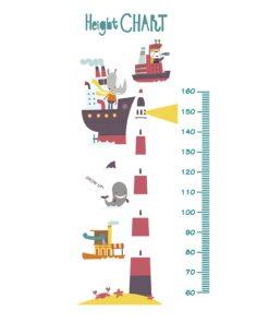 Vinilo medidor animales en mar