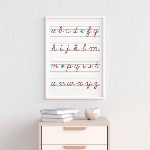 Lámina Abecedario Montessori