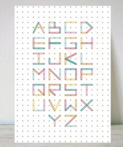 Lámina Abecedario Montessori Colores