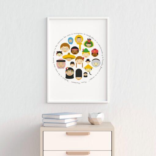 Lámina Montessori Paz