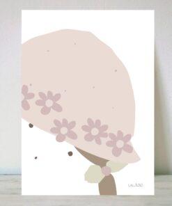 Lámina Sombrero Flores Claras