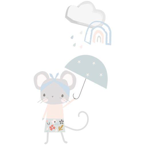 vinilo ratoncita paraguas