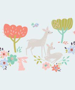 Vinilo primavera ciervos