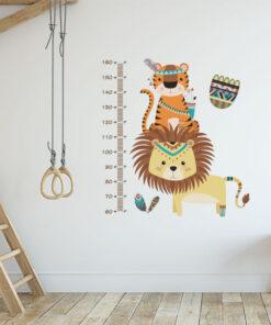 Vinilo Infantil Medidos Tigre y León