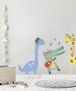 Vinilo Infantil Animales Musicales