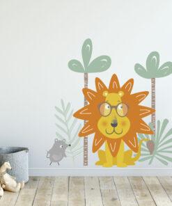 Vinilo Infantil León y Ratón