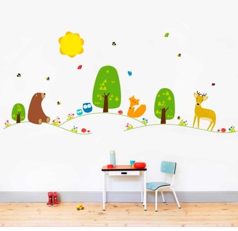 vinilos-decorativos-infantiles-arboles-bosques