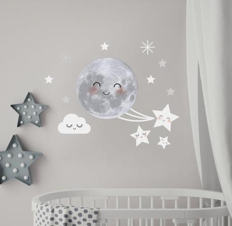 vinilos-decorativos-infantiles-luna-estrellas