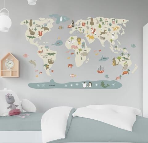 vinilos-decorativos-infantiles-mapamundi